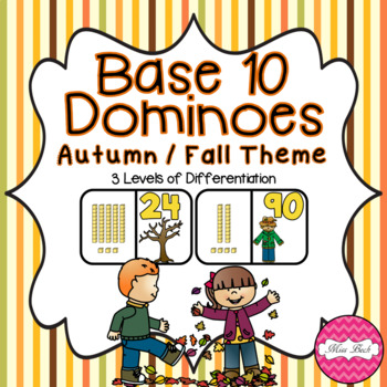 Base 10 Dominoes- Autumn/Fall Theme