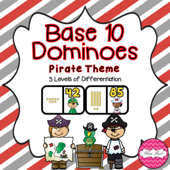 Base 10 Dominoes- Pirate Theme