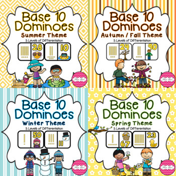 Base 10 Dominoes- Season BUNDLE