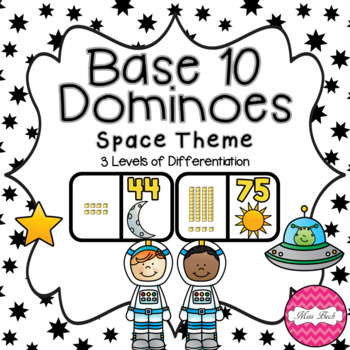 Base 10 Dominoes- Space Theme