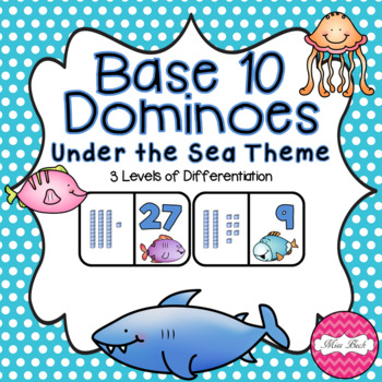 Base 10 Dominoes- Under The Sea Theme