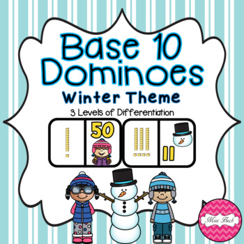 Base 10 Dominoes- Winter Theme