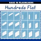 Base 10 Flashcards Hundreds Flats Isometric 23 Flash Cards