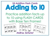 Base 10 Frame Addition Flash Cards
