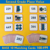Base 10 Matching Cards 100-499 – 2nd Grade Place Value