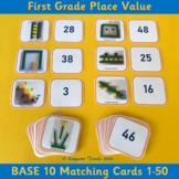 Base 10 Matching Cards 1-50 – 1st Grade Place Value