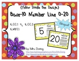 Base 10 Number Line 0-20 BILINGUAL {Yellow Doodle Bee Design}
