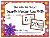 Base 10 Number Line 0-20 ENGLISH {Red Polka Dots Design}