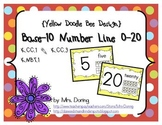 Base 10 Number Line 0-20 {Yellow Doodle Bee Design}
