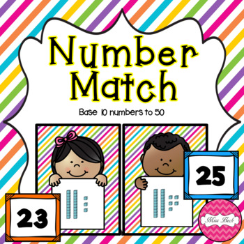 Base 10 Number Match Activity