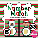 Base 10 Number Match- Christmas Theme