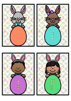 Base 10 Number Match- Easter Theme