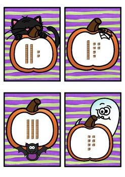Base 10 Number Match- Halloween Theme