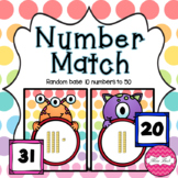 Base 10 Number Match- Monster Theme