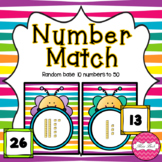 Base 10 Number Match- Spring Bee Theme