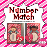 Base 10 Number Match- Valentine Theme