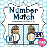 Base 10 Number Match- Winter Theme