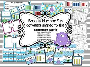 Base 10 and Place Value Math Centers and Games