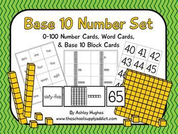 FREE Base 10 Number Set {A Hughes Design}