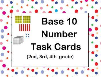 Base 10 Number Task Cards