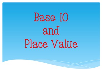 Base 10 / Place Value Explicit Teaching Warm-Up ACMNA028
