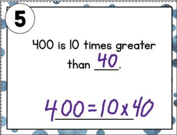 Base 10 Place Value Task Cards