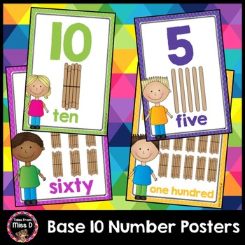 Base 10 Number Posters
