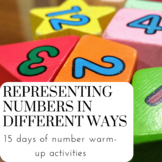 Base 10 Set; Representing Numbers Different Ways.