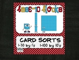 Base 10 Ten Card Sorts Aligned with Common Core Numbers & Words