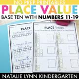 Base 10 Worksheets: Place Value 11-19