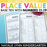 Base 10 Worksheets: Place Value 11-19
