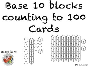 Base 10 block counting to 100