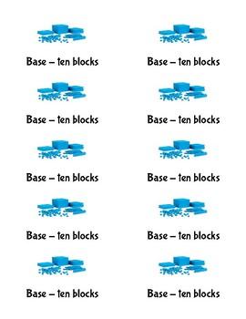 Base-10 block labels - Avery 8163