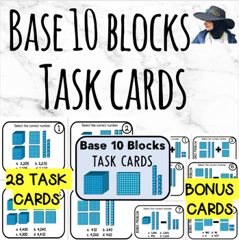 Base 10 blocks Task cards