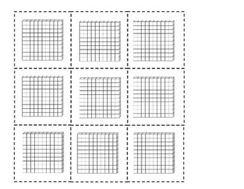 Base 10 blocks (hundreds)
