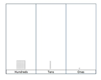 Base 10 blocks templates for Special Needs Leaners