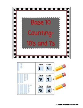 Base 10 counting- 10's and 1's