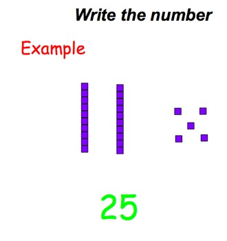 Base 10's and 1's (write the number)