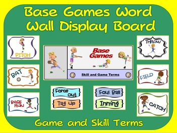 Base Games Word Wall Display: Skill, Graphics & Game Terms