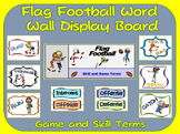 Flag Football Word Wall Display: Skill, Graphics & Game Terms
