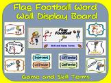 Flag Football Word Wall Display: Skill, Graphics & Game Terms