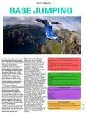 Base Jumping - ESL Reading w/ FULL Lesson Plan.  No Prep Needed!