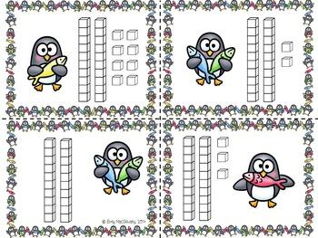 Base Ten (10) Slap It! Penguin Themed (0-50)