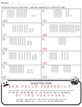Base Ten (Place Value) Worksheets Practice 0-200