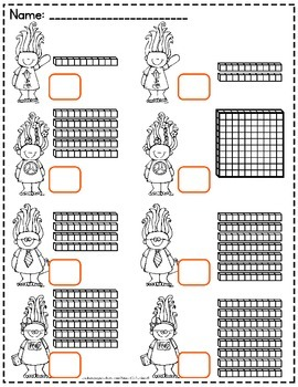 Base Ten Blocks Worksheets