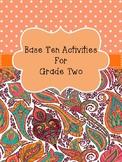 Base Ten Activities
