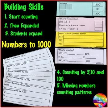Base Ten Math Activities Grade 1 and Grade 2 Numbers 100-1000