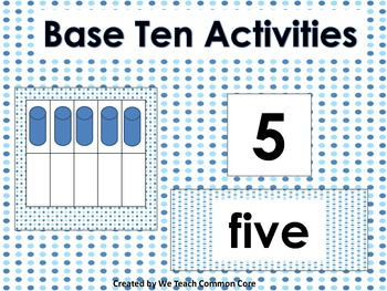 Base Ten Activities for Math Centers Common Core