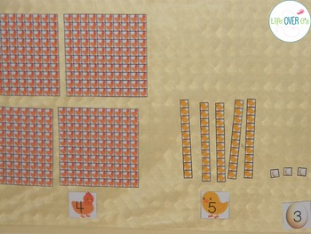 Base-Ten Activities for Place Value: Chicken Life-Cycle Farm Theme