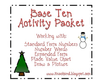 Base Ten Activity Packet